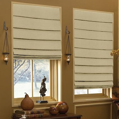 Custom sizing waterfall roman shade you can get these for for Roman blinds for large windows