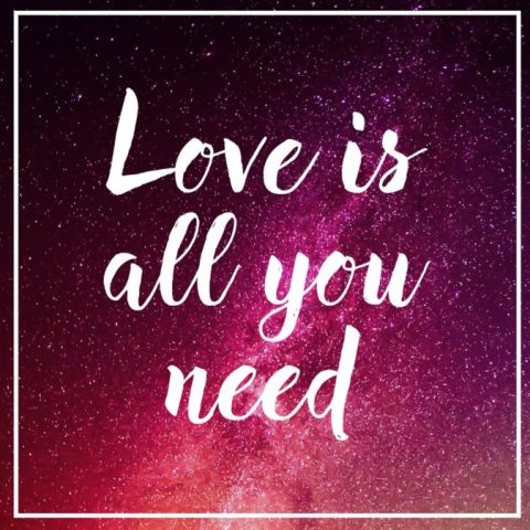 """Love is all you need."""