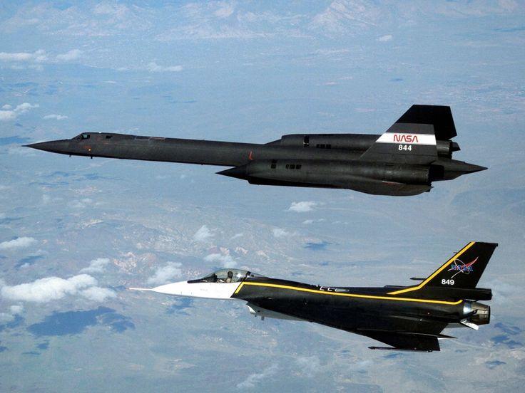 SR-71 Blackbird and a F-16XL