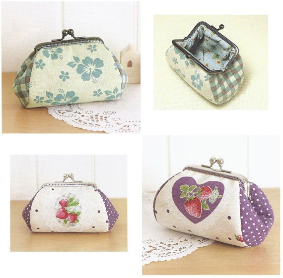 small pouch frame purse sewing pattern, make up bag, money pouch, pdf sewing tutorial, template on Etsy, $5.30