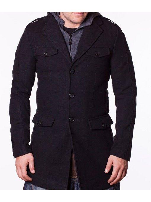 Palton barbati iarna Pollin negru
