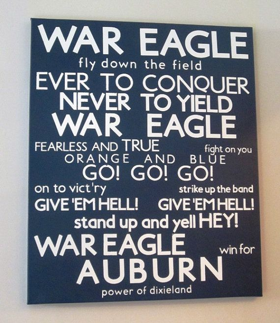 Auburn Fight Song!