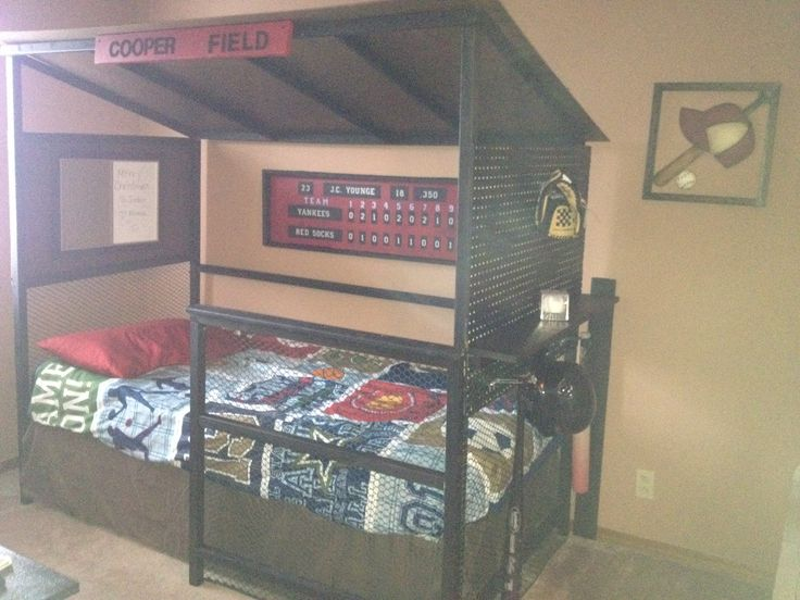 Baseball dugout bed