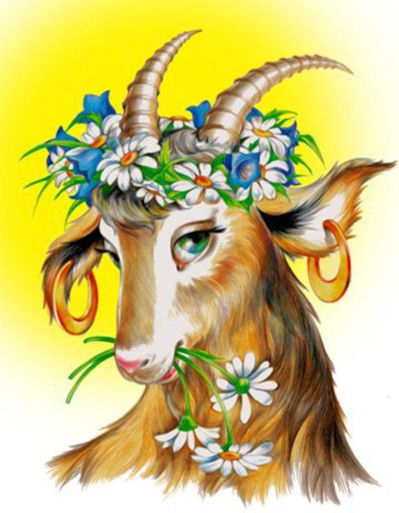 нежность, год козы прикольная картинка эффектные полёты каждой