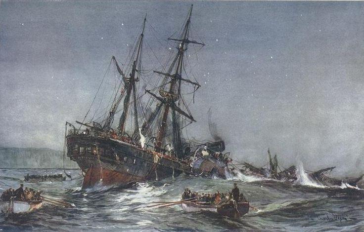 1852 - Ataque masivo de tiburones al navío británico Birkenhead  El 26 de febrero de 1852 a las 2 AM, el Birkenhead , que llevaba 490 soldados del ejercito británico con 25 de sus esposas y 31 niños , junto a una tripulación de 134 personas, choco con un arrecife a 1.6 Km. de Danger Point (Sudáfrica).