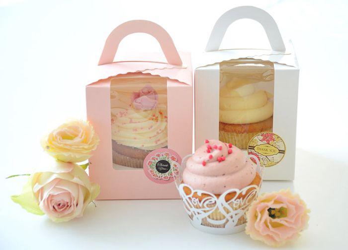Cupcake dobozban,esküvői köszönő ajándék