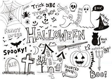 Halloween doodles Royalty Free Stock Vector Art Illustration