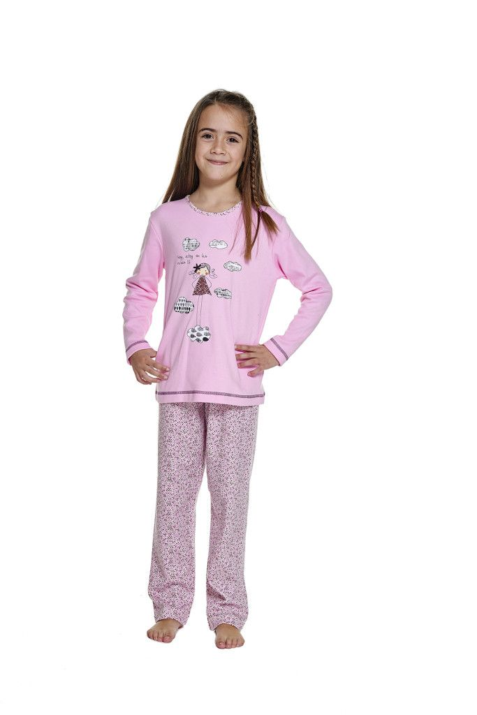 rebajas en moda íntima pijama para niña otoño invierno belty
