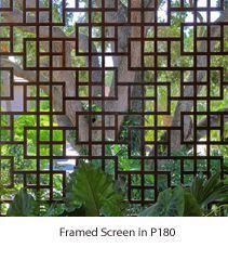 Lattice screen. Love the modern spin.