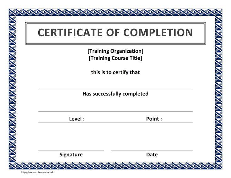 Training Certificate Template Free Microsoft Word Templates : Selimtd