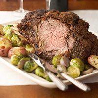 roasted prime rib w/dry rib rub  -- say that 3X fast!