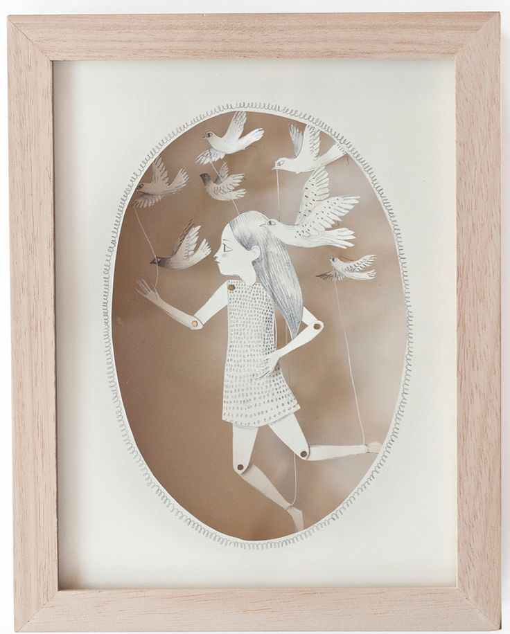 illustration, 3d, sculpture, paper engineering, box frame, design, pretty, drawing, painting, paper doll, birds