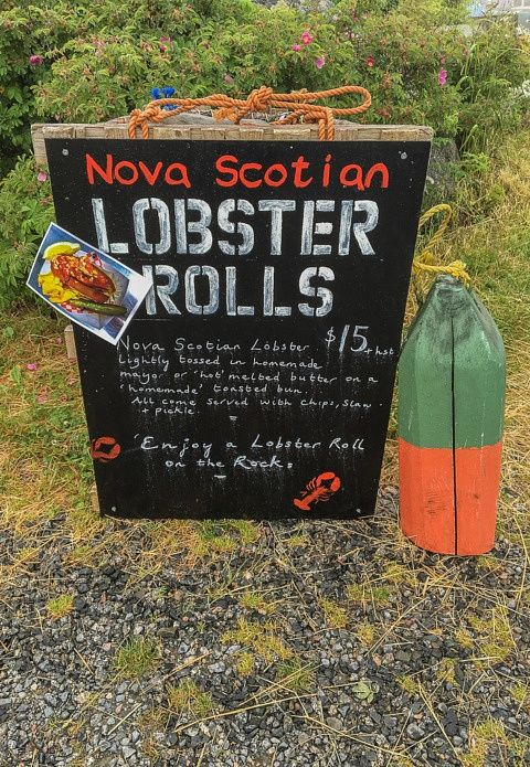 Lobster Roll stand Peggy's Cove Things to do in Nova Scotia
