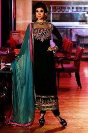 Black Color Awesome Trendy Salwar Kameez