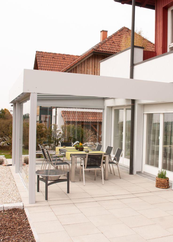 Terrassenüberdachung moderne Optik Terrassendach