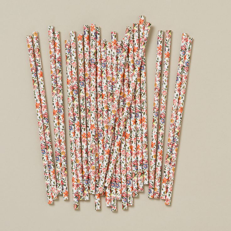 Garden Party Straws via Shop Terrain