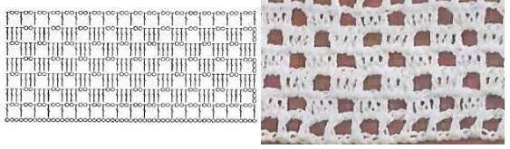 schemat 2 do białej sukienki z kwadratów