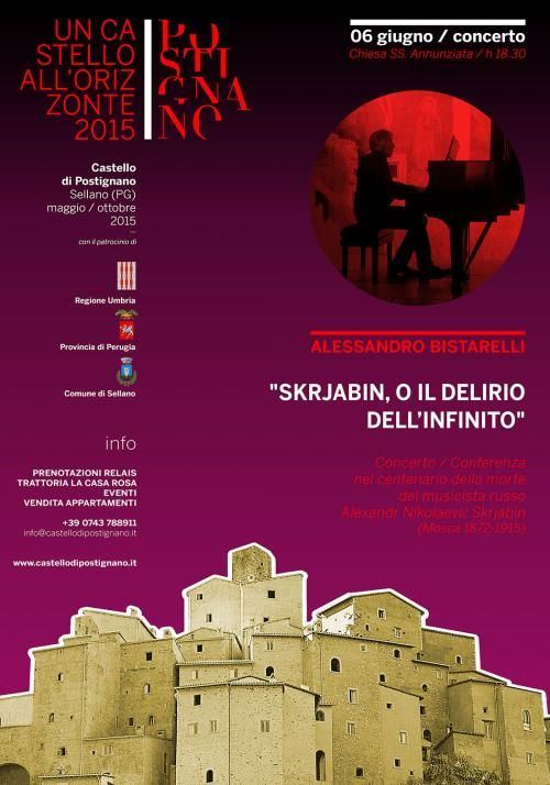 Concerto in onore di Alexandr Nikolaevic Skrjabin a Postignano