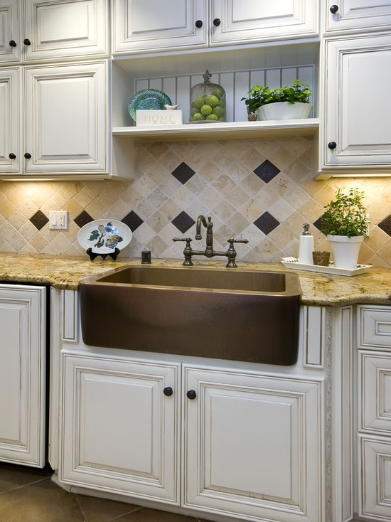 ... Traditional Kitchen Backsplash Sink Design Pictures For Farmhouse Style Kitchen  Backsplash ...