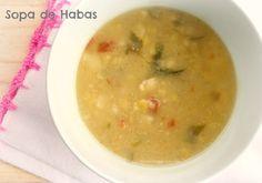 Como Hacer Sopa de Habas . Receta Fácil y Rica para Preparar una sopa o caldo de habas cremosa, sin agregar leche.