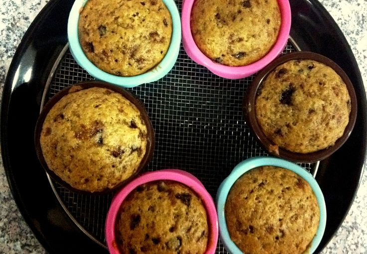 CHOCO CHIP MUFFINS  Chocolates are Mitul's weakness. This one was of the first things I had baked for him. And ever since, I have been getting requests of baking various chocolate based recipes every week!