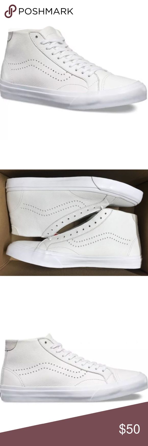 Vans Court Mid DX Leather White Classic Skate Shoe Vans Court Mid DX Leather White Classic Skate Shoes  Size Men 13 Brand new in box Vans Shoes Athletic Shoes