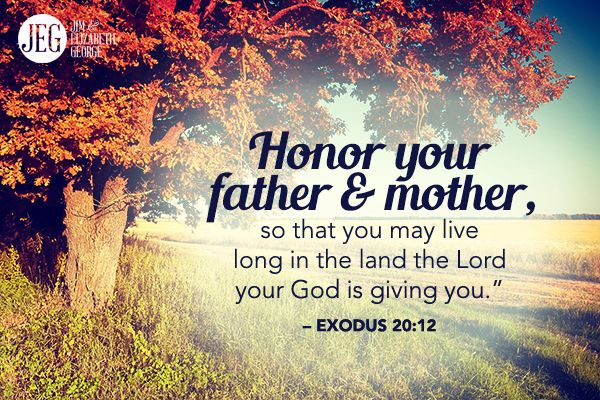 """honor thy father and mother an We find that in the book of exodus, chapter 20, verse 12: """"honour thy father and  thy mother: that thy days may be long upon the land which the."""