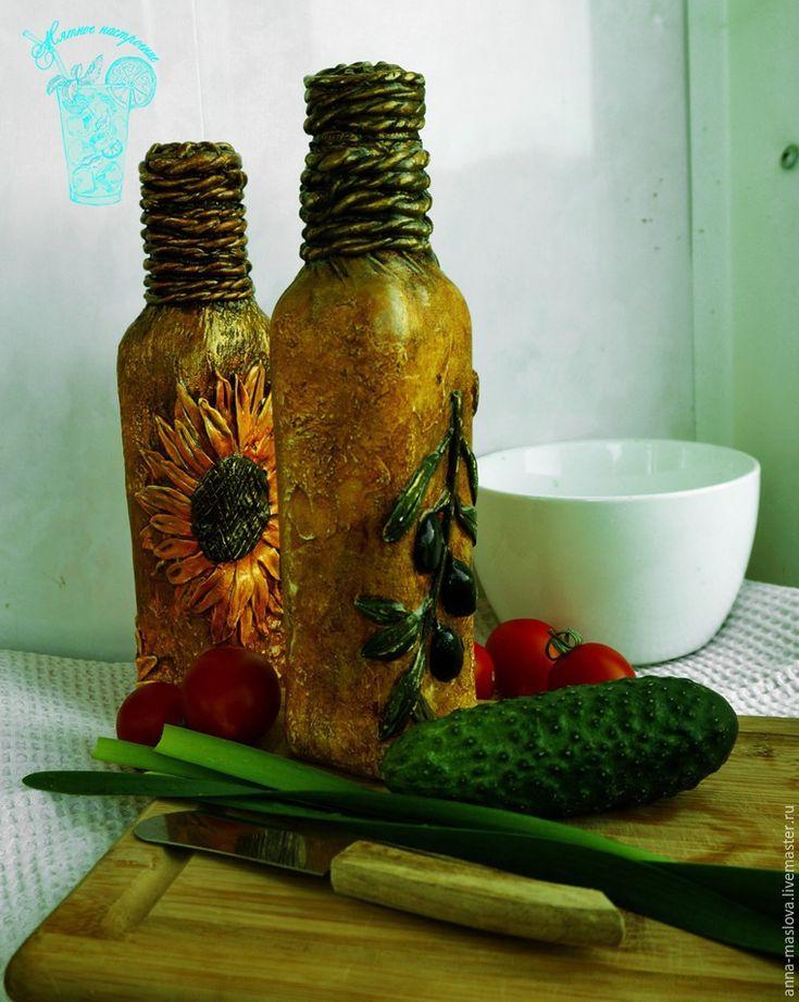 Декорирование бутылки для оливкового масла - Ярмарка Мастеров - ручная работа, handmade