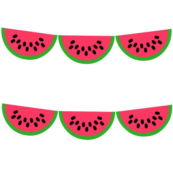 Free Printable Watermelon Garland from printablepartydecor.com #freeprintable