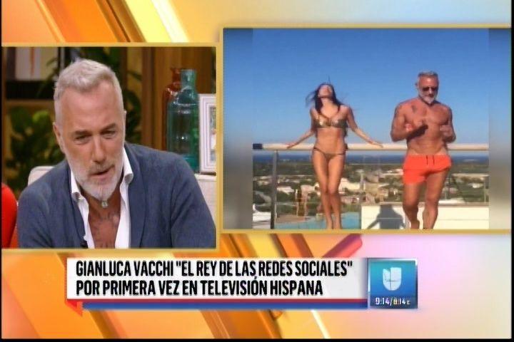 """El Popular Multimillonario Italiano Gianluca Vacchi """"El Rey De Las Redes Sociales"""" En «Despierta América»"""
