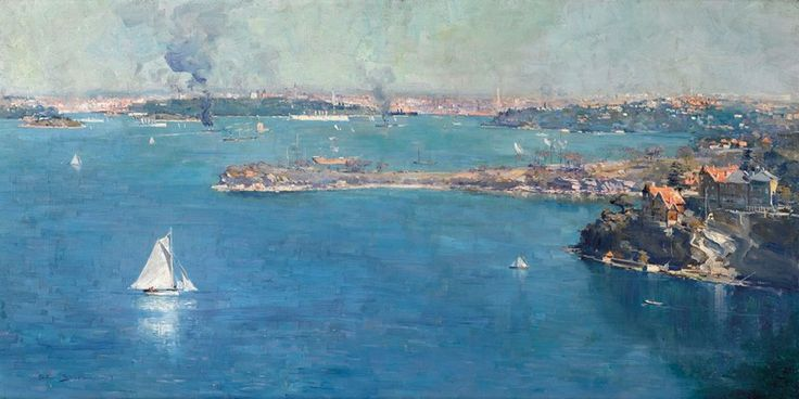 Arthr Streeton, Sydney Harbour 1909