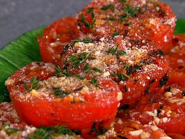 Get Garlic Grilled Tomatoes Recipe from Food Network