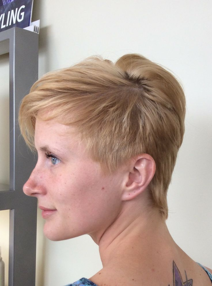 Short P!NK inspired cut done by Dani Siegers and Soiree Salon
