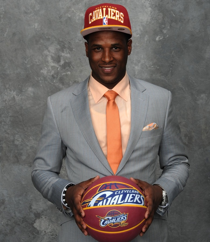 Dion Waiters poses for a portrait after being selected number four overall by the Cleveland Cavaliers during the 2012 NBA Draft at The Prudential Center on June 28, 2012 in Newark, New Jersey. (Jennifer Pottheiser/NBAE/Getty Images)Nbadraft, Tbt Draft, Nba Draft