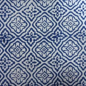 20 Sheeting Cotton Fabric Hand Block Printed BLUE CROSS SKU 11113 | Block Printed Fabric By Yard