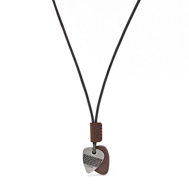 Collier médiator en cuir