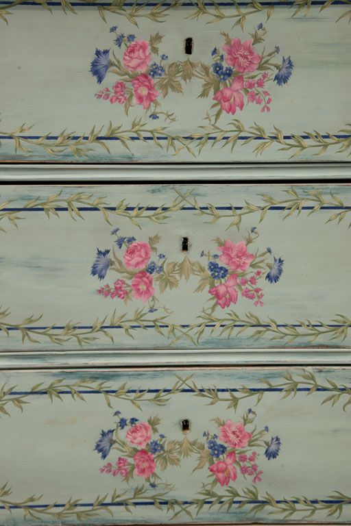 Antique  Romanian  Painted Chest of Drawers