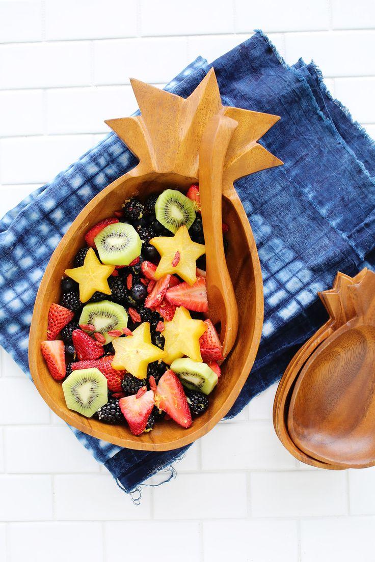 Lemon ginger fruit salad