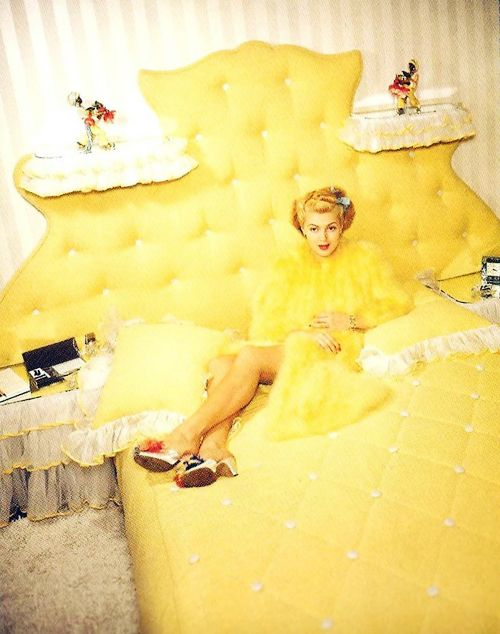 Lana Turner at home, 1940's