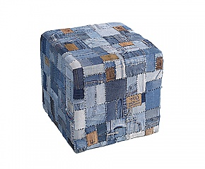 Poef leeman; to go with the jeans labels pillows   Dalani Home & Living