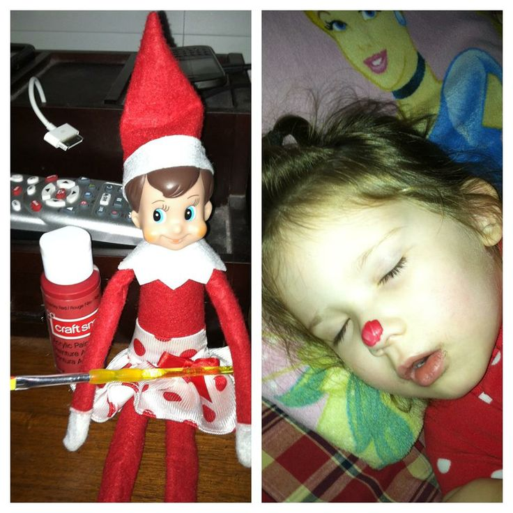 Amy's elf, Turnip, gave her daughter a red nose!