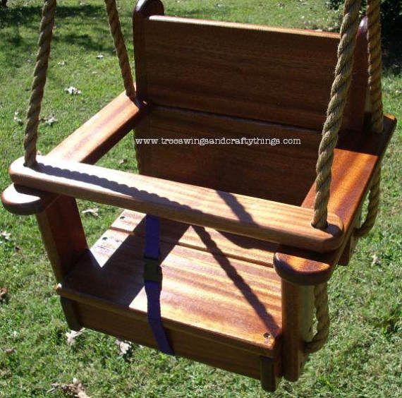 Árbol de madera columpio  Sapele niños asiento