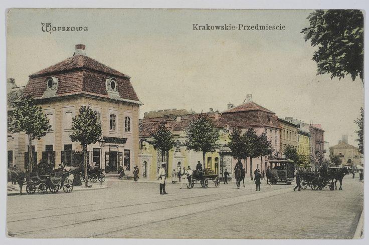 Pocztówka: Warszawa, Krakowskie Przedmieście, nakł. B-ci Rzepkowicz (1906)