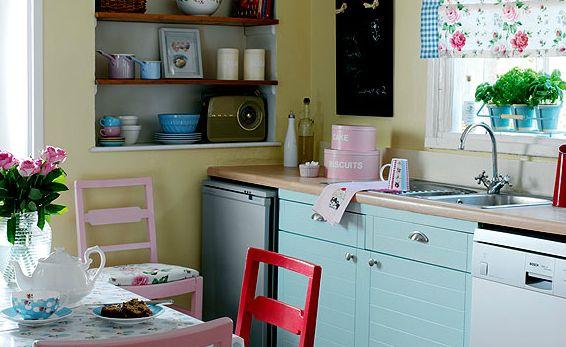 Kitchen Red Kitchen Retro Kitchens Small Kitchens Kitchen Dining