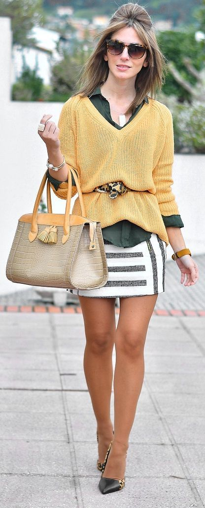 Mix Prints Casual Chic Streetstyle women fashion clothing style apparel @roressclothes closet ideas