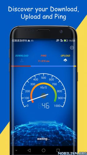 Internet Speed Test Pro v1.0.1Requirements: 4.0.3+Overview: Internet speed test is an Internet speed meter. It can test speed for your mobile cellular connections including WiFi hotspot, LTE, 4G, 3G networks.   With just one tap, it will conduct...