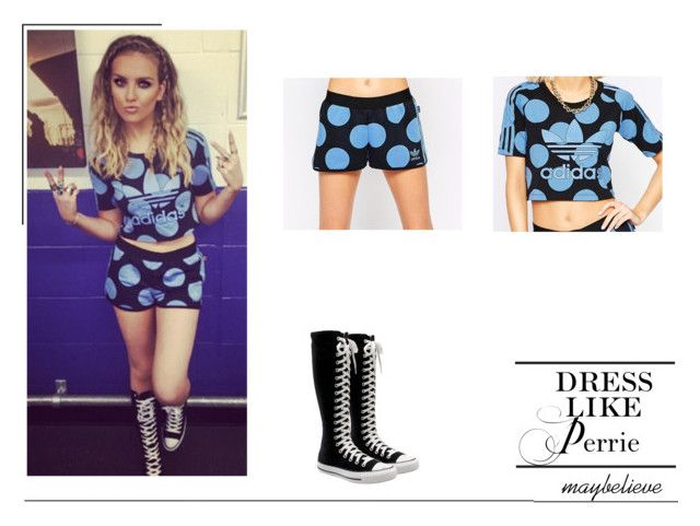 Perrie Edwards #9 by maybelieve on Polyvore featuring moda, adidas and Converse