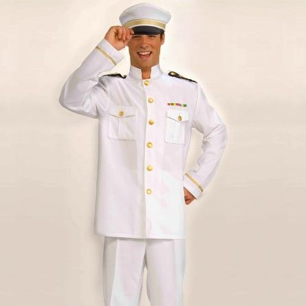 White Captain Costume