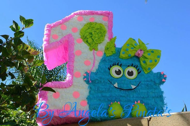 Little Monsters pinata Custom Made little Girly monster 1st birthday Piñata Girly Monster birthday Number One Pinata little monster Pinata by angelaspinatas on Etsy https://www.etsy.com/listing/208488846/little-monsters-pinata-custom-made