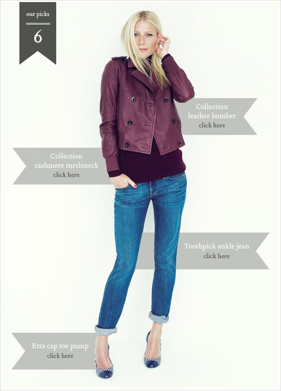 love the monochromatic look using a leather jacket in an interesting shade